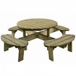 Halwill 8 Seater Round Picnic Table