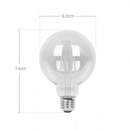 Edison Medium Globe Long LED Filament G95 Light Bulb Dimensions