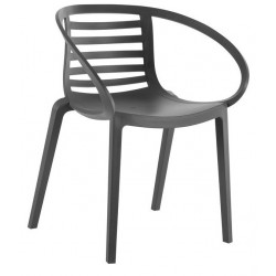 Hanover Plastic Garden Chairs Anthracite