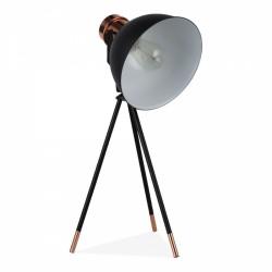 Barton Metal Tripod Black/Copper Desk Light light off