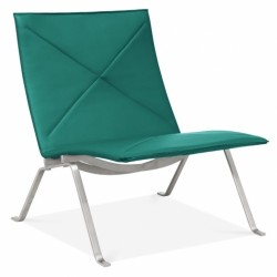 Varde Faux Leather Lounge Chair - Teal