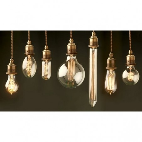 Edison Medium Round Globe Filament Bulbs