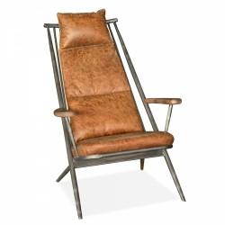 Brilon Tan Leather Lounge Chair