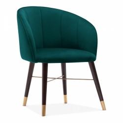 Eola Velvet Upolstered Lounge Chair - Teal