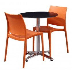 2 person table and chair set outdoor plastic chairs in orange