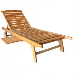 Piedra Acacia Garden Patio Wooden Sun Lounger