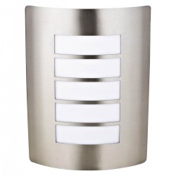 Darwen Stainless Steel Modern Panel Curved Wall Light