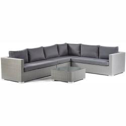 Lodi PE Rattan Corner Sofa Set with Middle Section