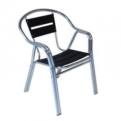 Le Grand Aluminium Stacking Chair - Black