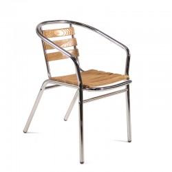Rio Vista Aluminium and Ash Stacking Chair
