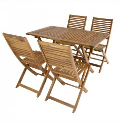 Alviso Acacia  4 Seater Garden Dining Set