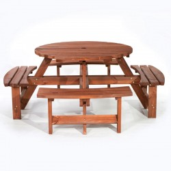 Babeny Round 8 Seater Picnic Table