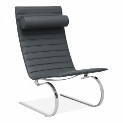 Mells Lounge Chair in grey, white background