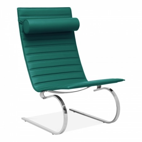 Mells Lounge Chair in teal, white background