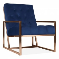 Boxsted Occasional Armchair in royal blue