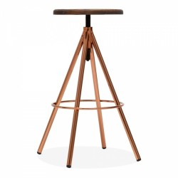 Arden Industrial Style Bar Stool in copper