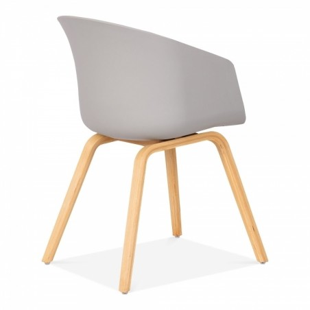 Grey chair angle view