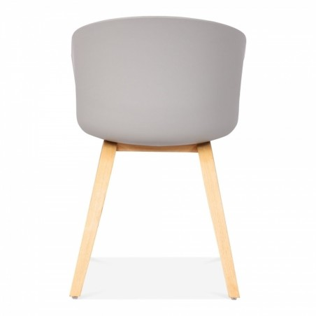 Grey chair, rear view
