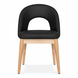 Black chair, front view