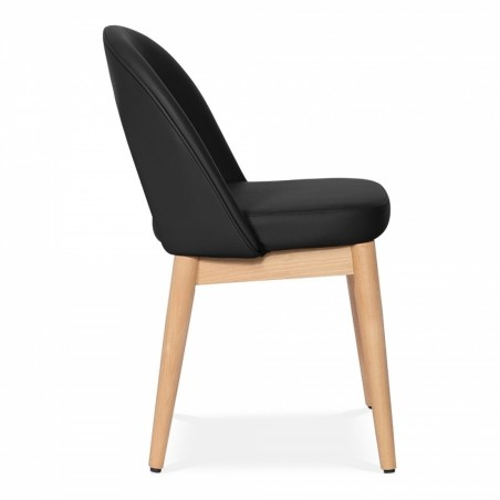 Black chair, side view