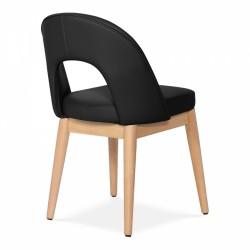 Black chair, angle view