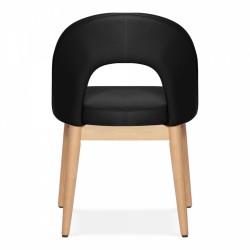 Black chair, rear view