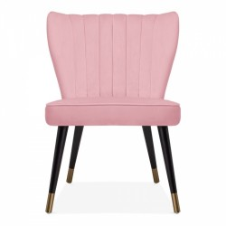 Blush pink chair front view