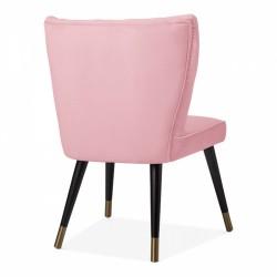 Blush pink chair, angle view