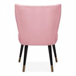 Blush pink chair, rear view