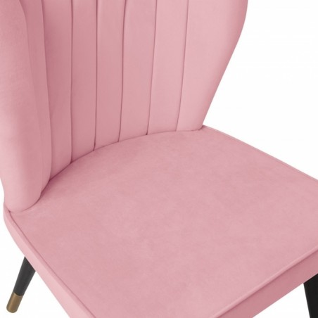 Blush pink chair, close up shot