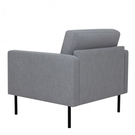 Grey armchair, rear angle view