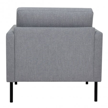 Grey armchair, rear view