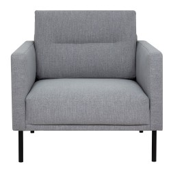 Grey armchair, front view