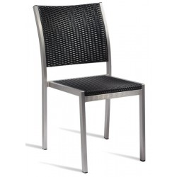 Metal and weave garden chair