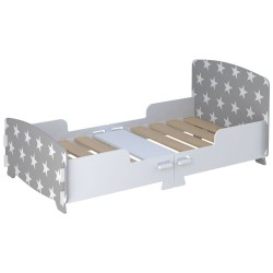 Kidsaw Star Junior Toddler Bed in grey, white background