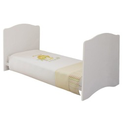 Kidsaw Kudl Kids Cot bed as a bed, white background