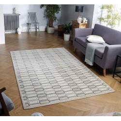 Pavia Geometric 181X Grey Rug Indoor Mood shot