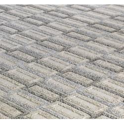 Pavia Geometric 181X Grey Rug pattern Detail