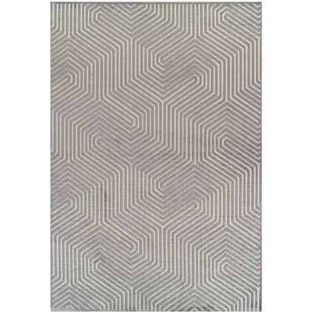 Pavia 3D Design 186 J Grey Rug