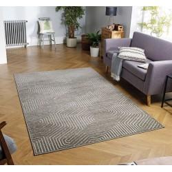 Pavia 3D Design 186 J Grey Rug Indoor Mood Shot
