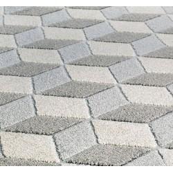 Pavia 3D Design 285Z Grey Rug Pile & Pattern Detail