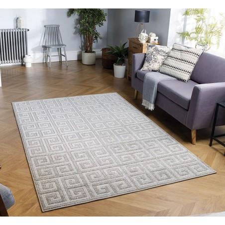 Pavia Geometric Rug Room View