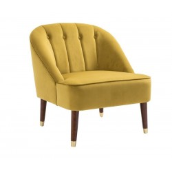 Aria Chair in mustard, angle view