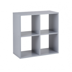 Callow 4 Boxi Shelving Unit in grey, angle view