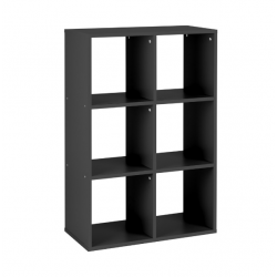 Callow 6 Boxi Shelving Unit in black, angle view
