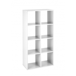 Callow 8 Boxi Shelving Unit in white, angle view