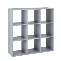 Callow 9 Boxi Shelving Unit in grey, angle view
