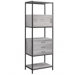 Aulden 3 Drawer Shelving Unit, angle view