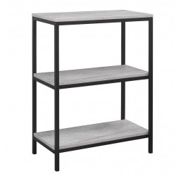 Aulden 3 Tier Bookcase, angle view