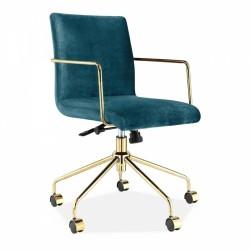 Tatamy Short Back Velvet Upholstered Office Chair Teal